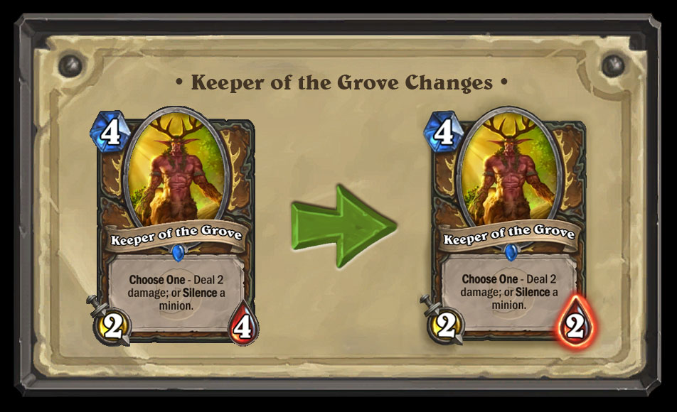 Keeper of the Grove Nerf