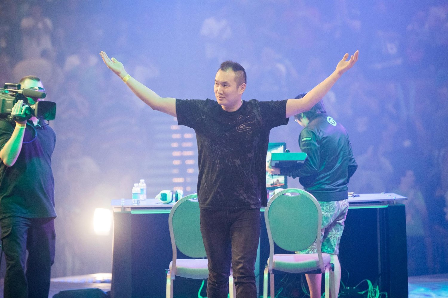 infiltration on stage after winning evo 2016