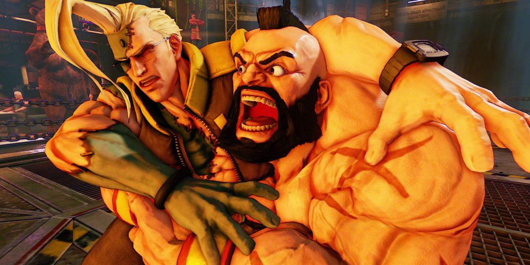 Zangif fights and yells in Capcom Pro Tour DLC