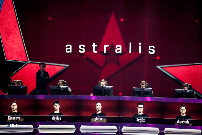 Astralis lineup at ELEAGUE S2