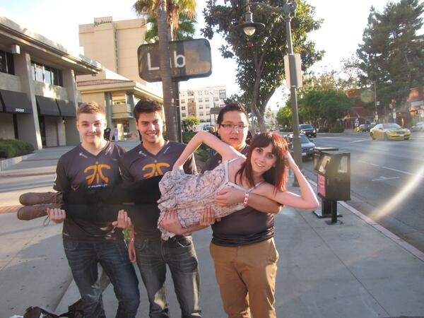 Naomi with Fnatic