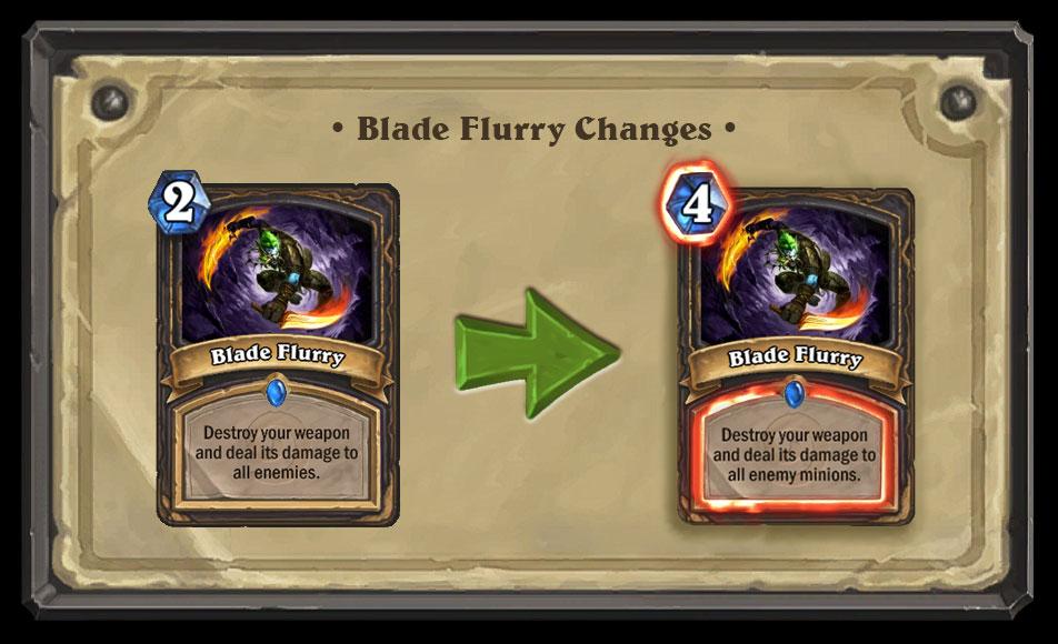Rogue Problem Blade Flurry Nerf