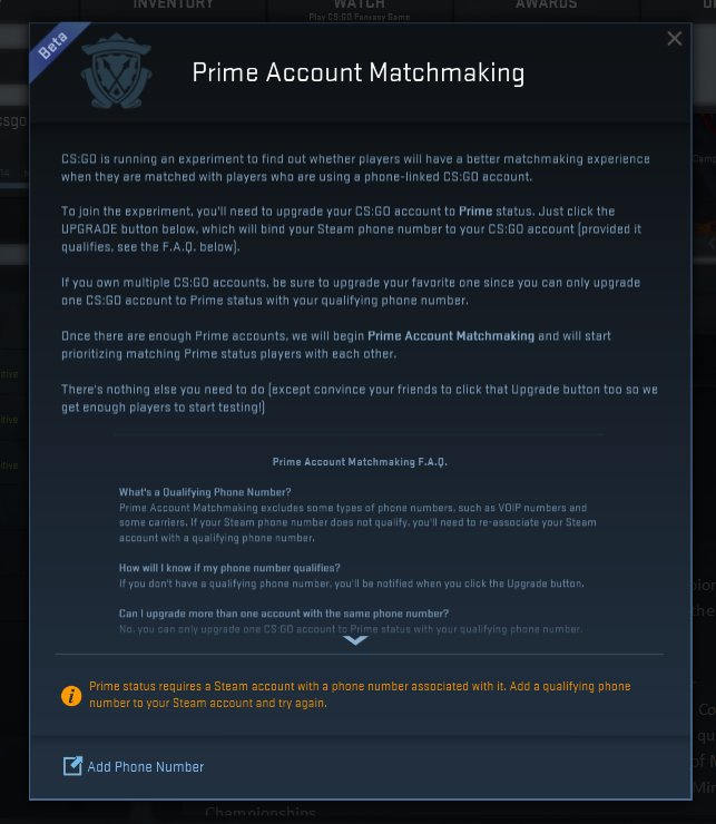 Cs go matchmaking queue