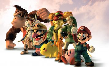 Super Smash Characters lined up