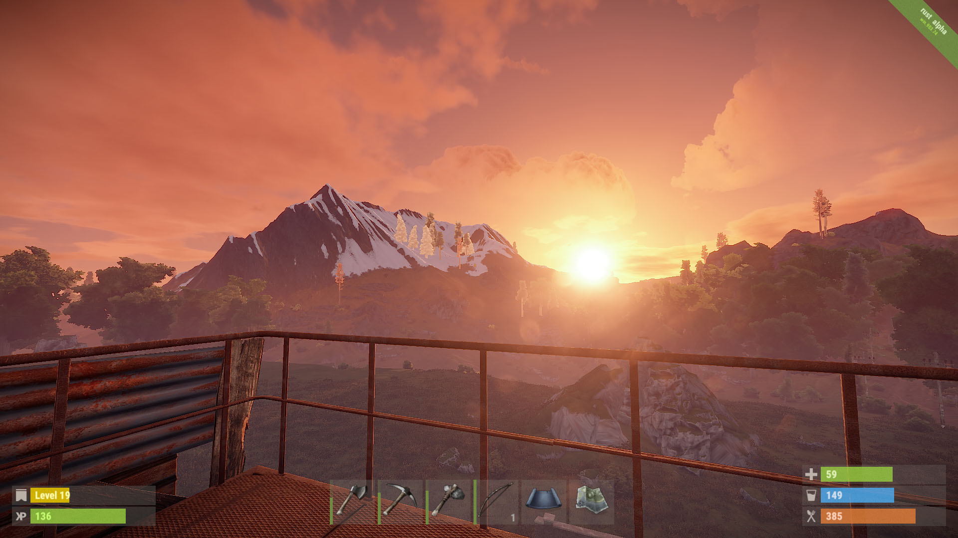 Horizon screenshot in Rust