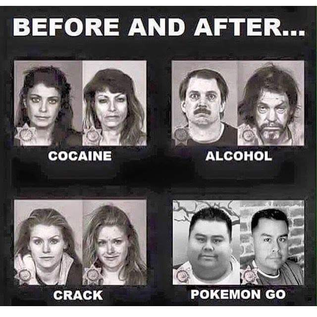 Pokemon Go before and after