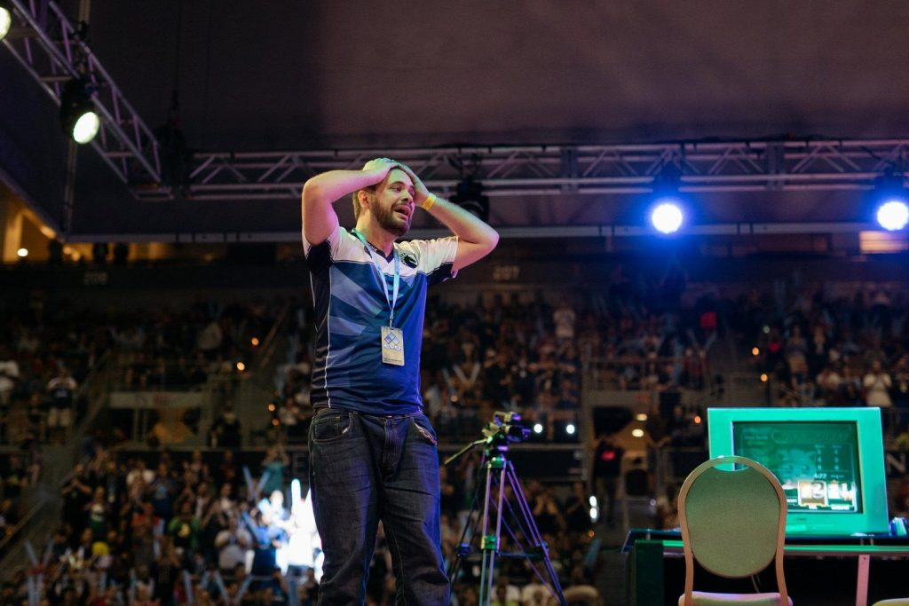 Hungrybox cries on stage after winning Evo 2016