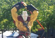 Statue of Juggernaut from outside TI6,