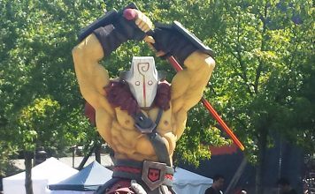 Statue of Juggernaut from outside TI6,