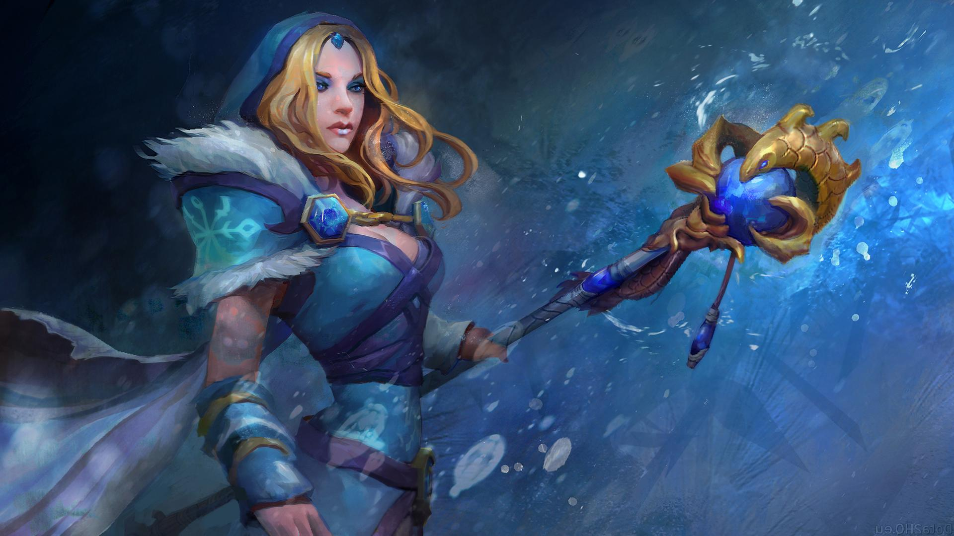 Crystal Maiden Dota 2 Wallpaper