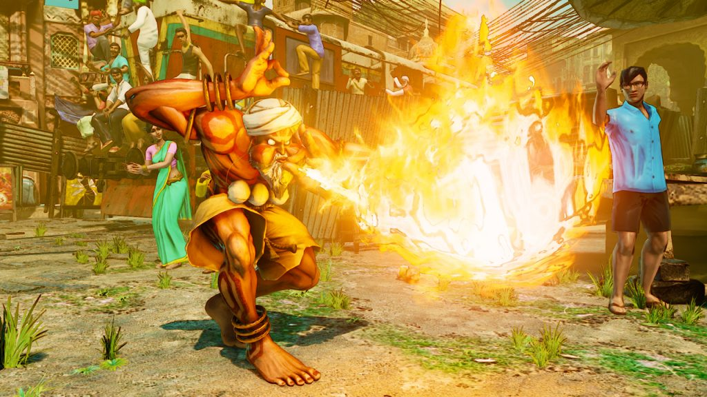 dhalsim street fighter v blowing fire