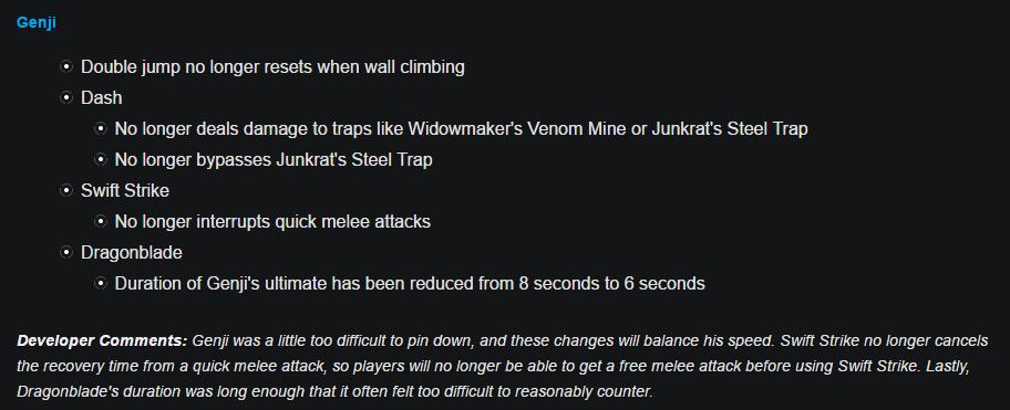 Genji Nerf Overwatch