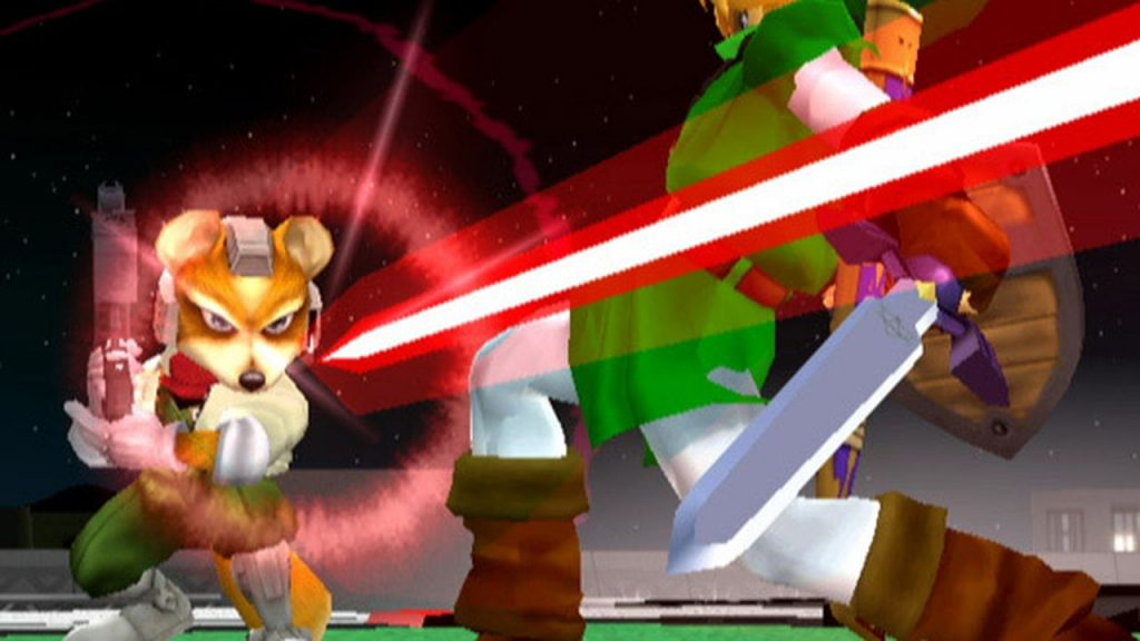 Melee fox shooting at link