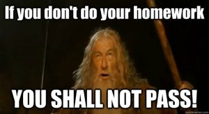 Homework Gandalf Meme