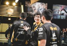 Team Dignitas walking off stage