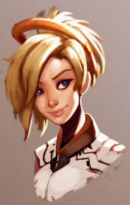 Overwatch Mercy Most Populay Hero deviantart raichiyo33