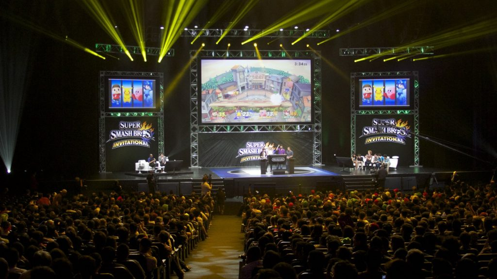 Super Smash Bros invitational tournament stage