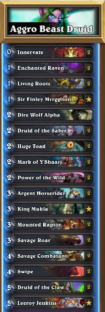 Aggro Beast Druid Decklist