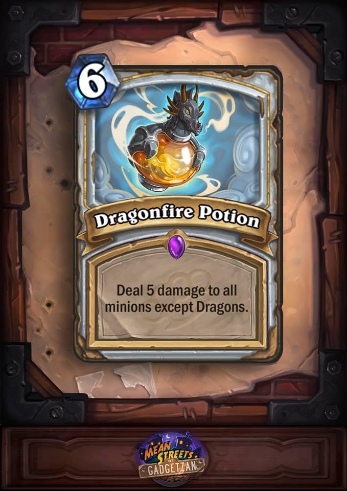 Anti-Aggro Dragonfire Potion Card.