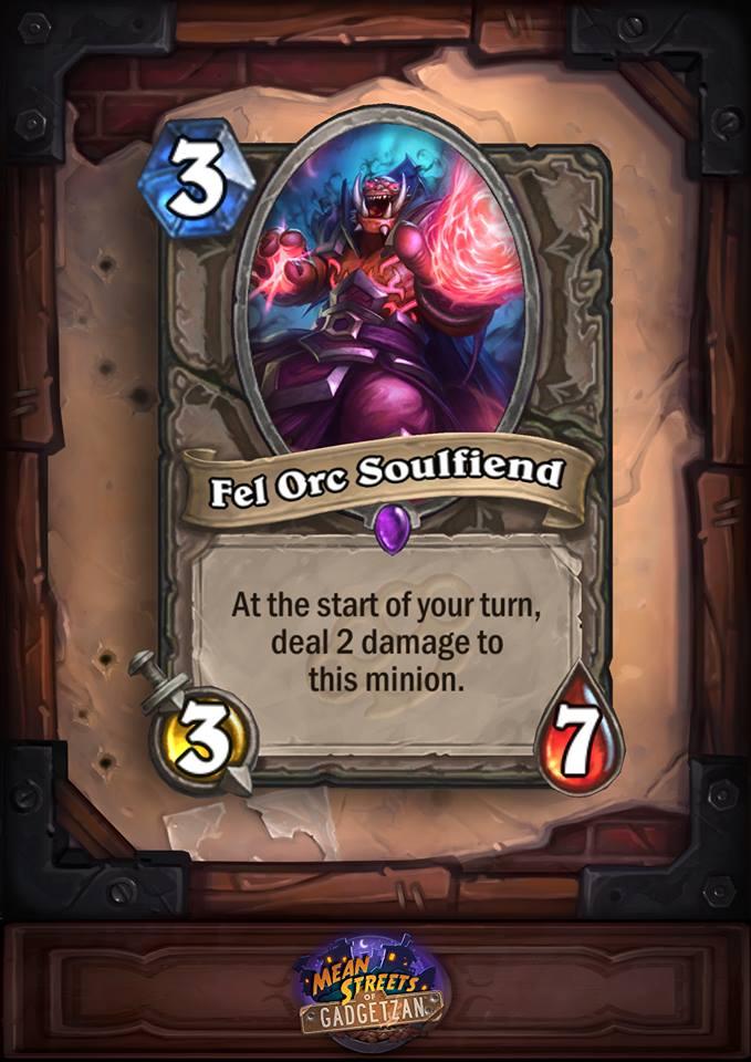 Anti-aggro Fel Orc Soulfiend Card.