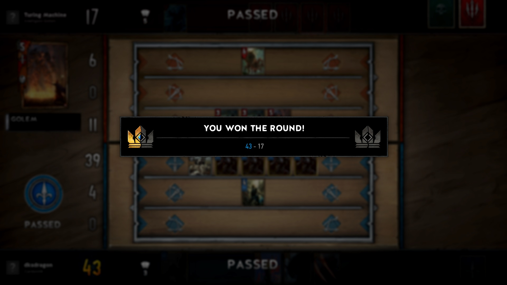 "Gwent ""You Won the Round!"""