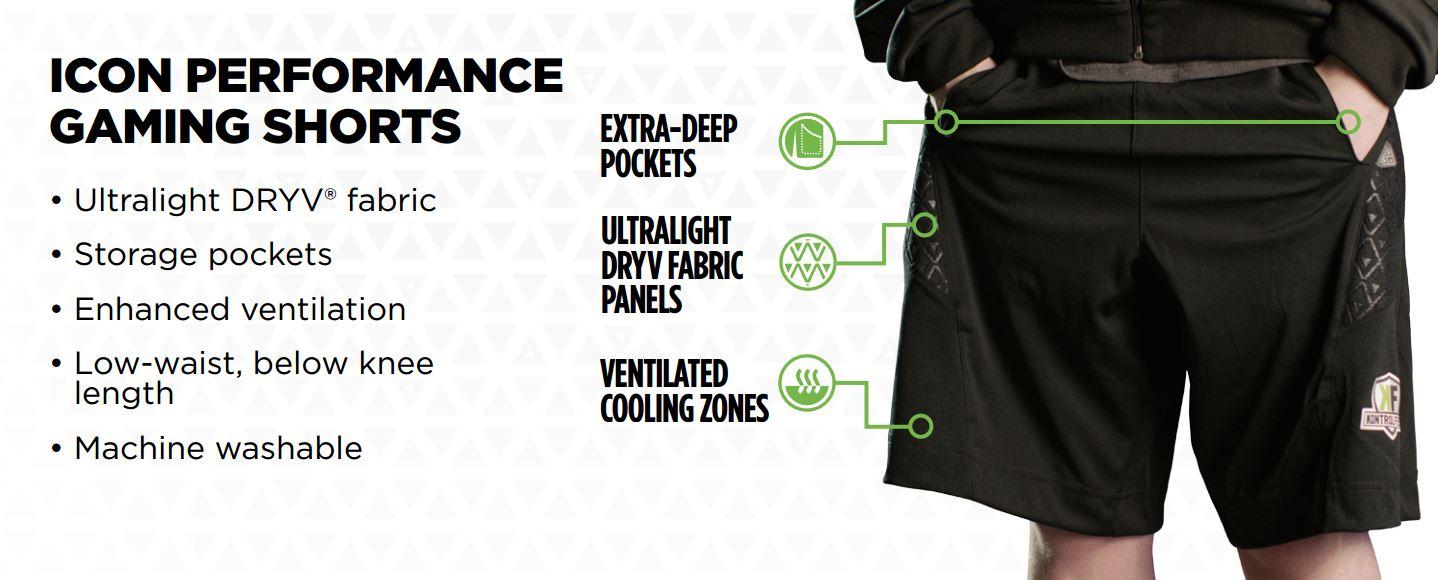 KontrolFreek Performance Gaming Wear: Shorts