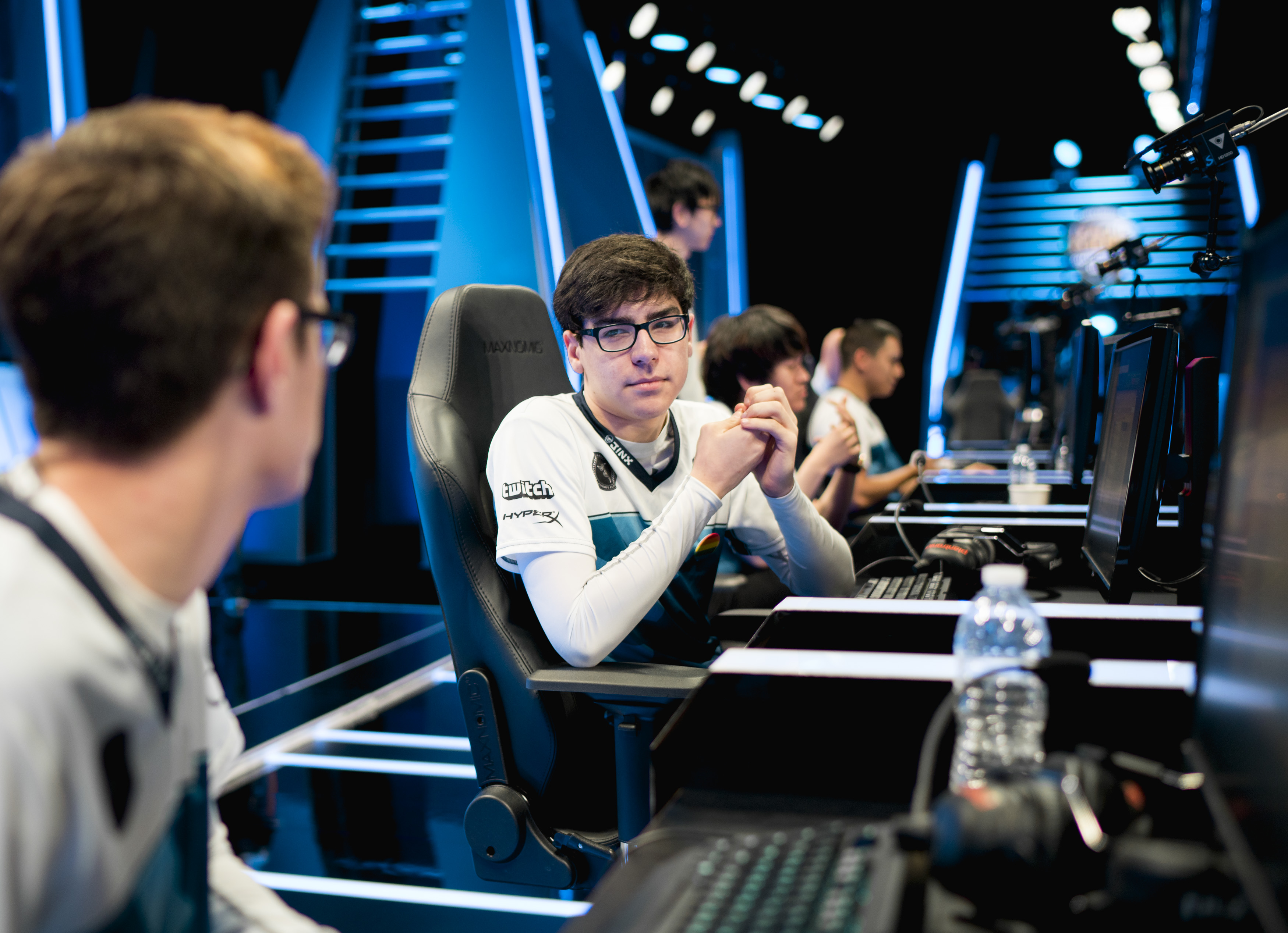 Dardoch on stage during the NA LCS.