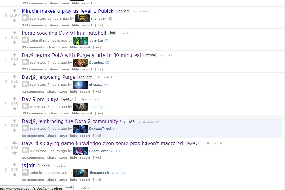 Reddit front page Day[9] links
