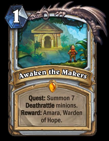 Journey to Un'Goro - Awaken the Makers Quest Mechanic
