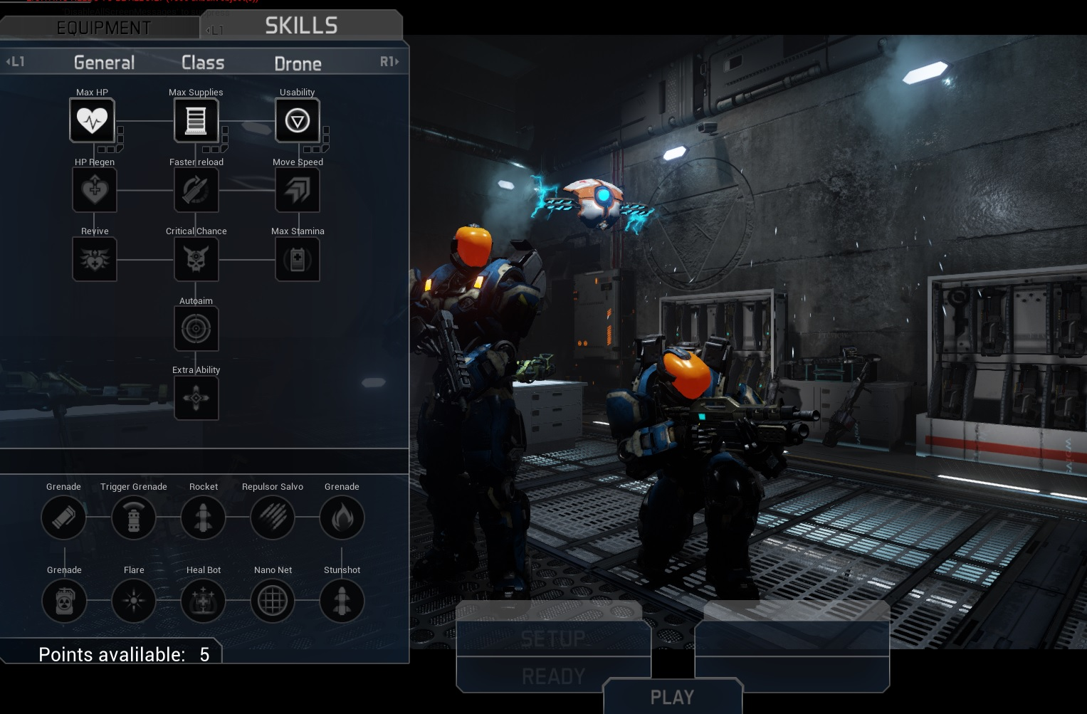 Players can choose between different skills in Solstice Chronicles: MIA.