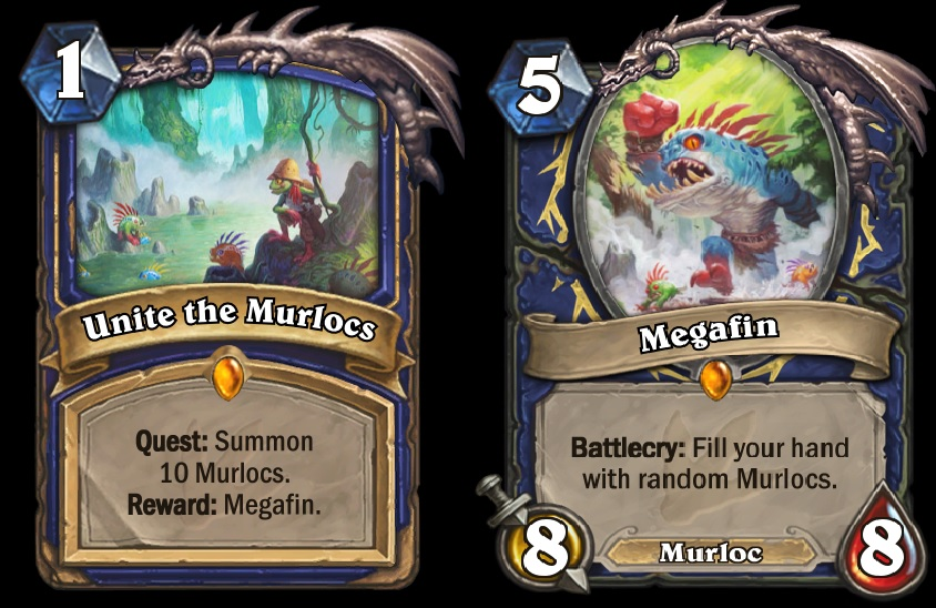 Unite the Murlocs is Shaman's new Quest card, which will be released in Hearthstone's upcoming Journey to Un'Goro expansion.