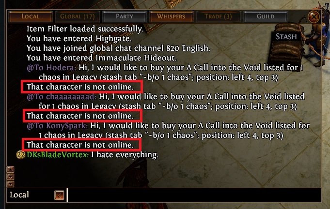 Path of Exile Trading Flaws