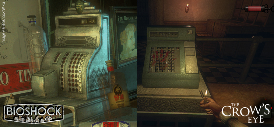 Cash register comparison between Bioshock and The Crow's Eye.