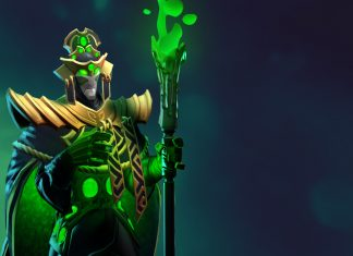 Cosmetics like this set for Rubick are created by Steam Workshop artists, who receive a cut of the profits if Valve accepts the piece into a chest or treasure.