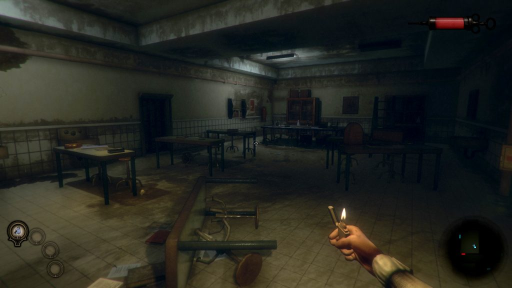 Early images from of gameplay give you a hint as to the creepy horror aesthetic of the game, set in a near-abandoned medical university.