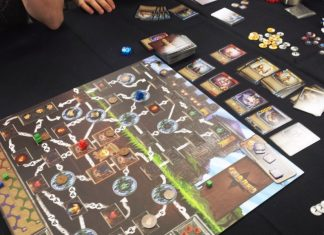 many games played at Olympic Cards and Comics on International Tabletop Day.
