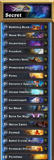 One of the strongest Secret Mage deck in Journey to Un'Goro.