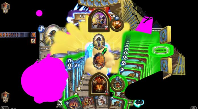 Hearthstone's client glitching out.
