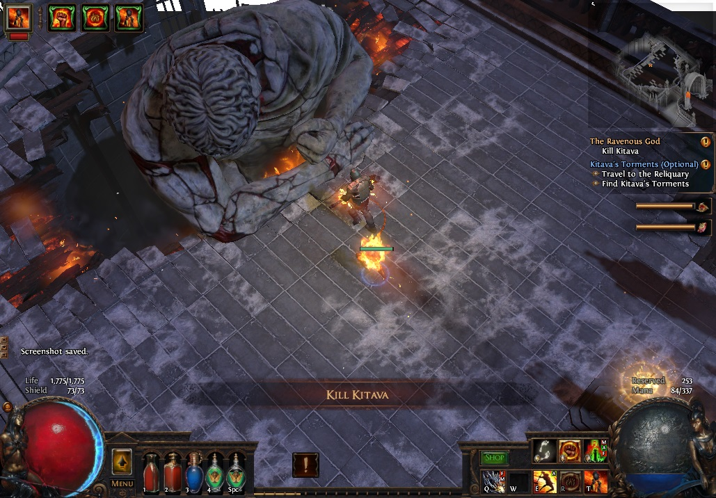 Kitava is the second boss in Act Five, and he's no pushover.