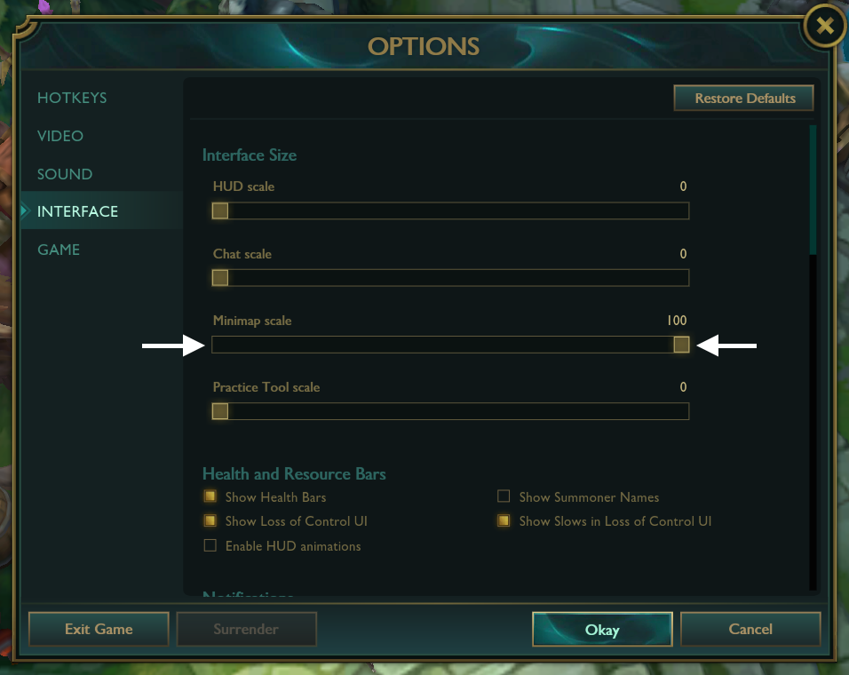 Adjusting the minimap scale in League of Legends is a good way to make sure your attention never wanders too far from the game.