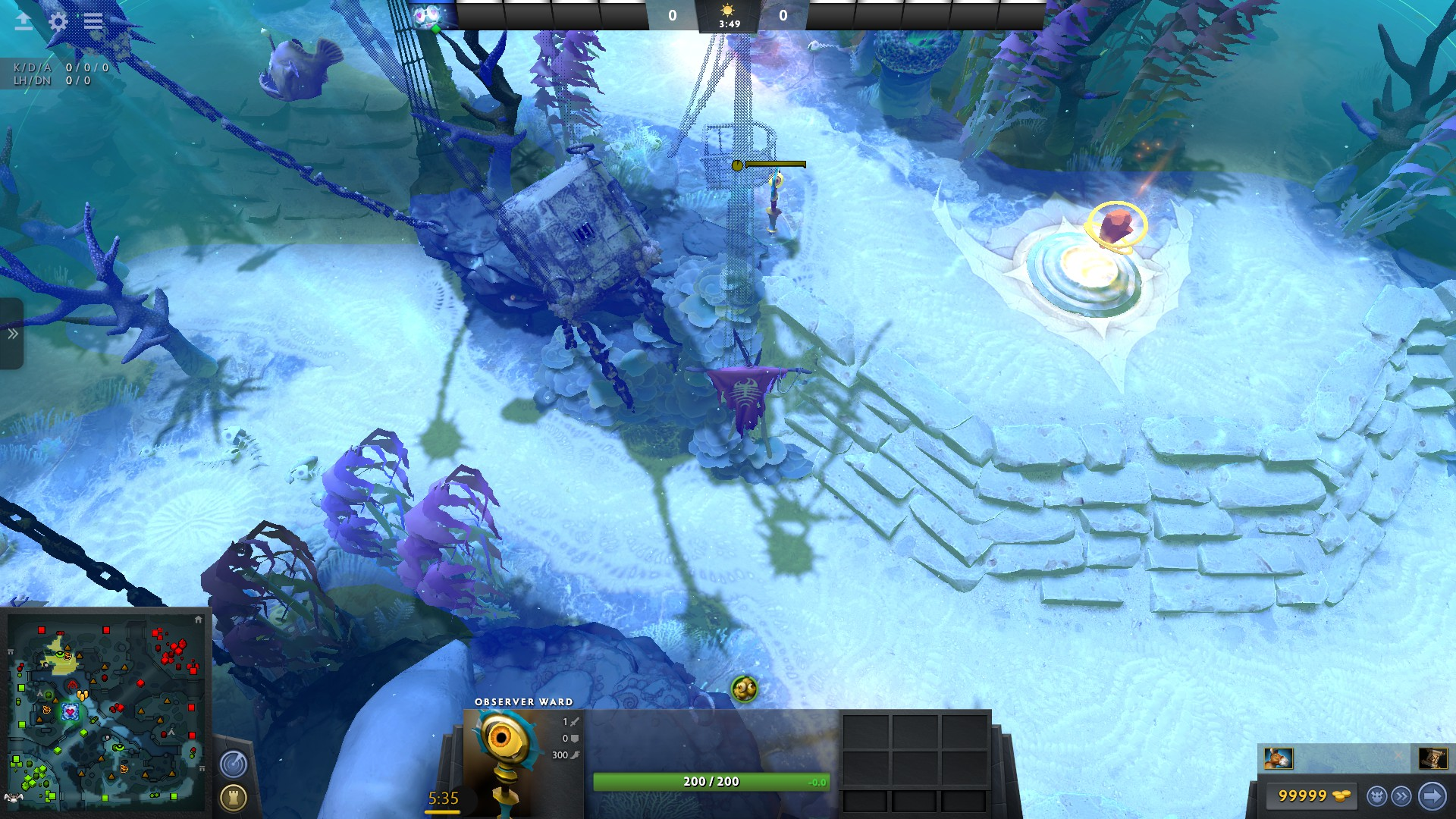 This offlane ward gives you vision of Dire's pull camps, as well as letting you keep an eye on the top Bounty rune and scout out incoming ganks.