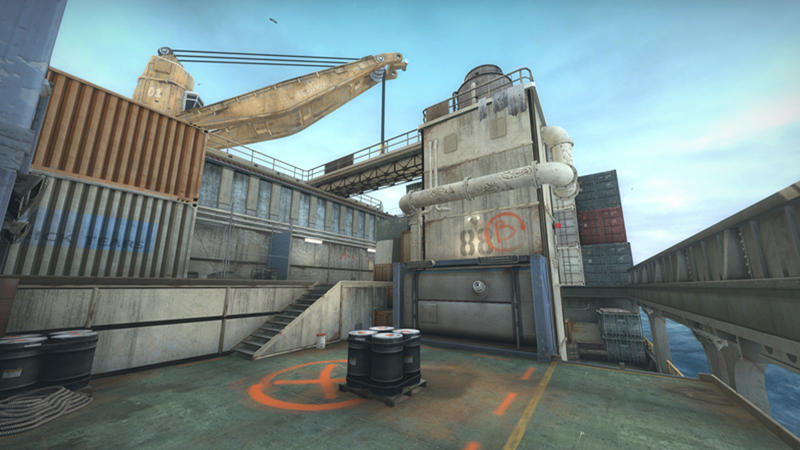 "Screenshot of ""Shipped,"" a CS:GO map included in Operation Hydra."