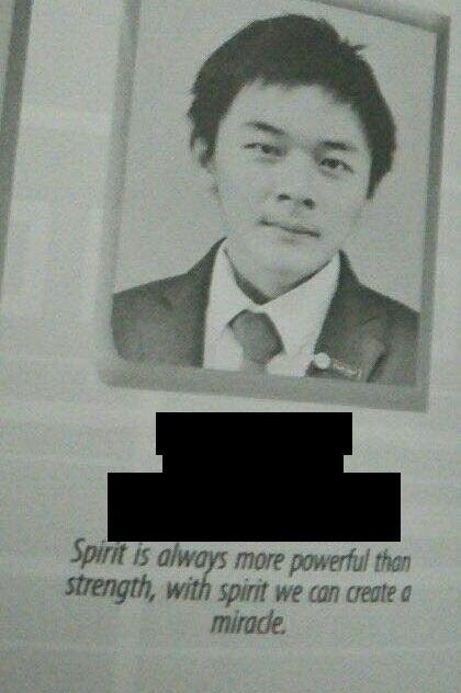 MidOne's yearbook photo.