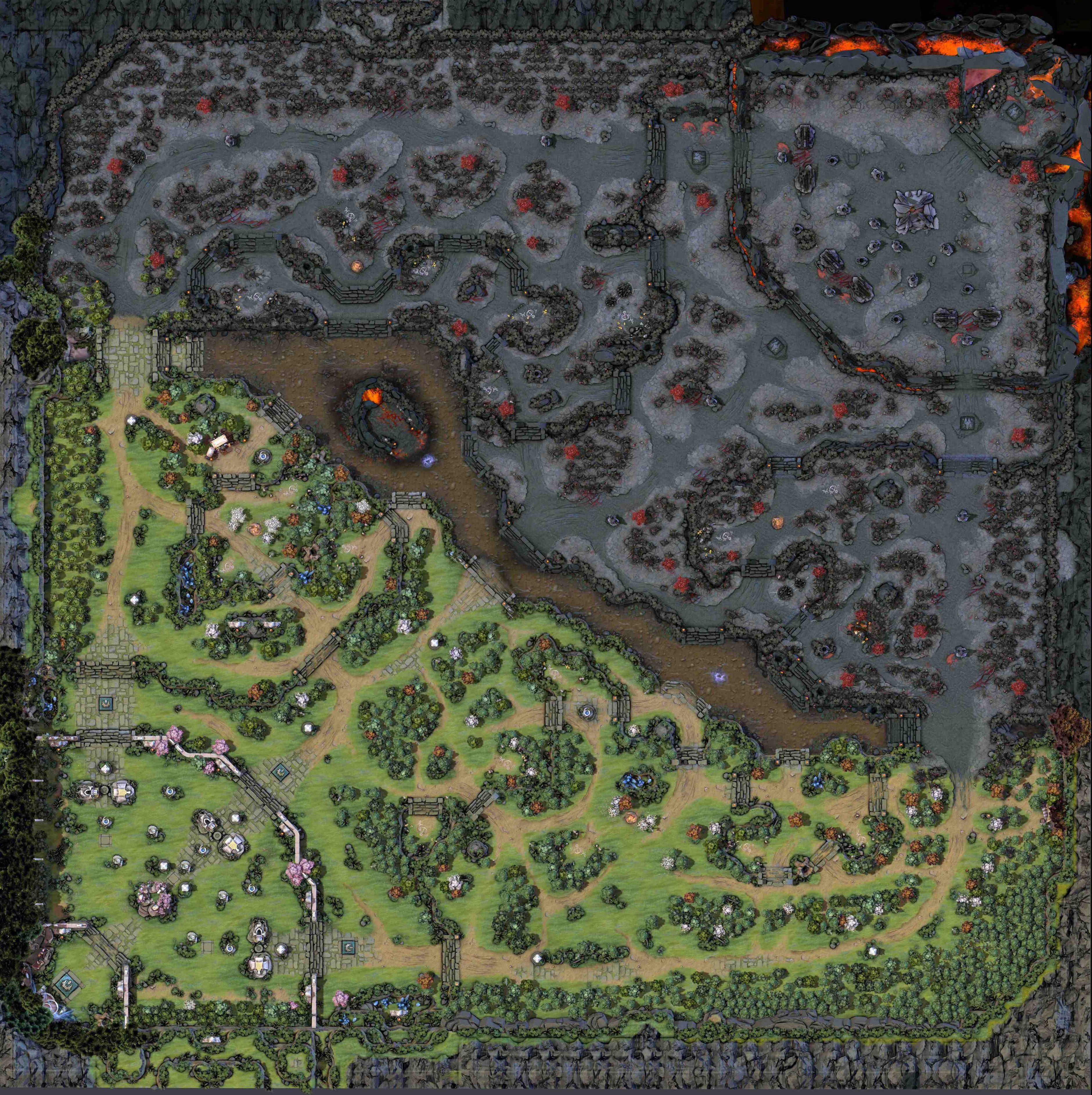 Dota 2's map in 7.00