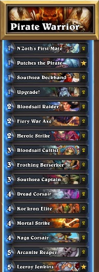 Pirate Warrior Decklist