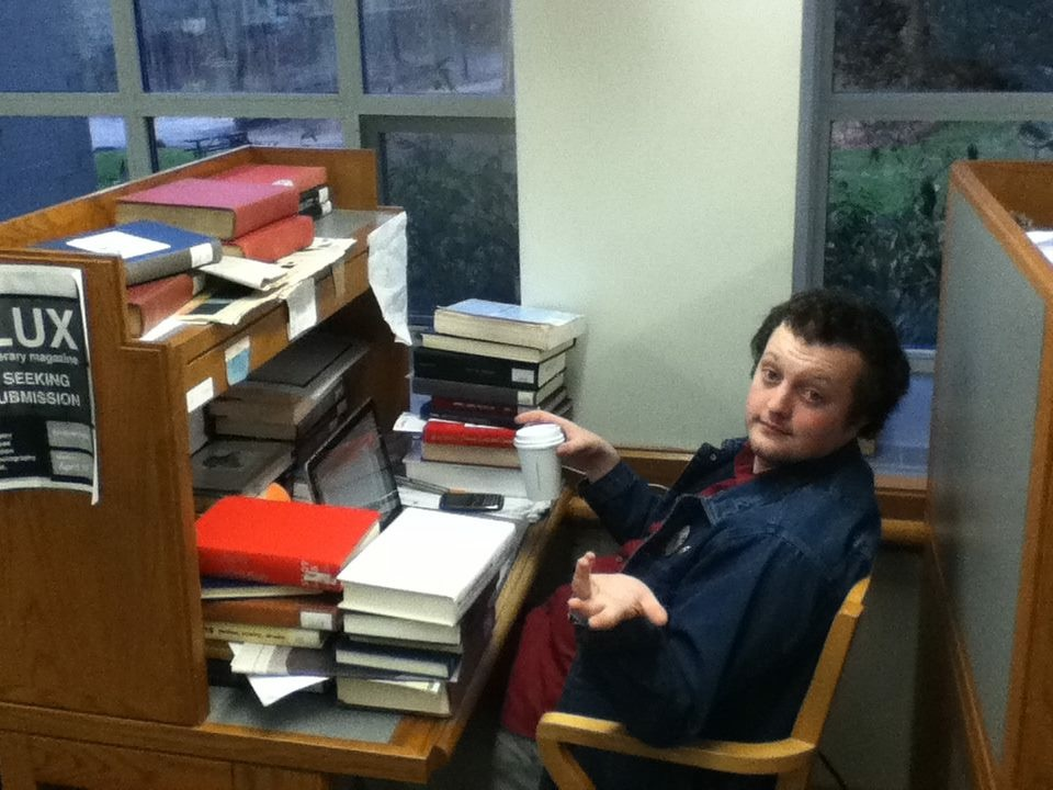 J.P. Corner's desk while he was working on his senior thesis.