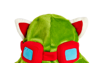 This terrible Teemo hat is sold by Riot Games. Unfortunately.