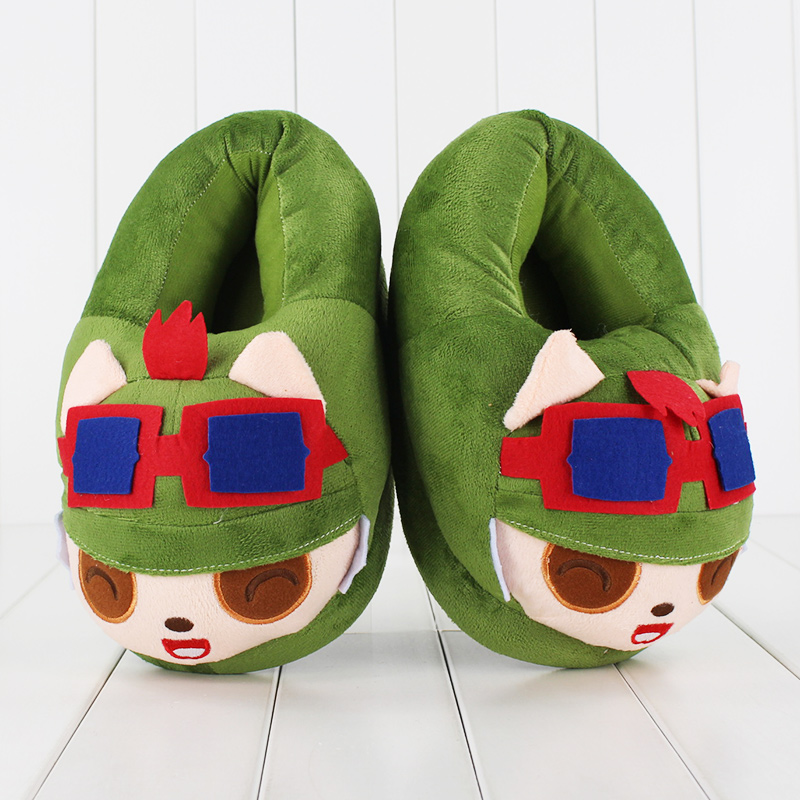 More bad League of Legends merchandise. For the basement dweller whose feet get cold, try wearing these gaudy Teemo slippers.