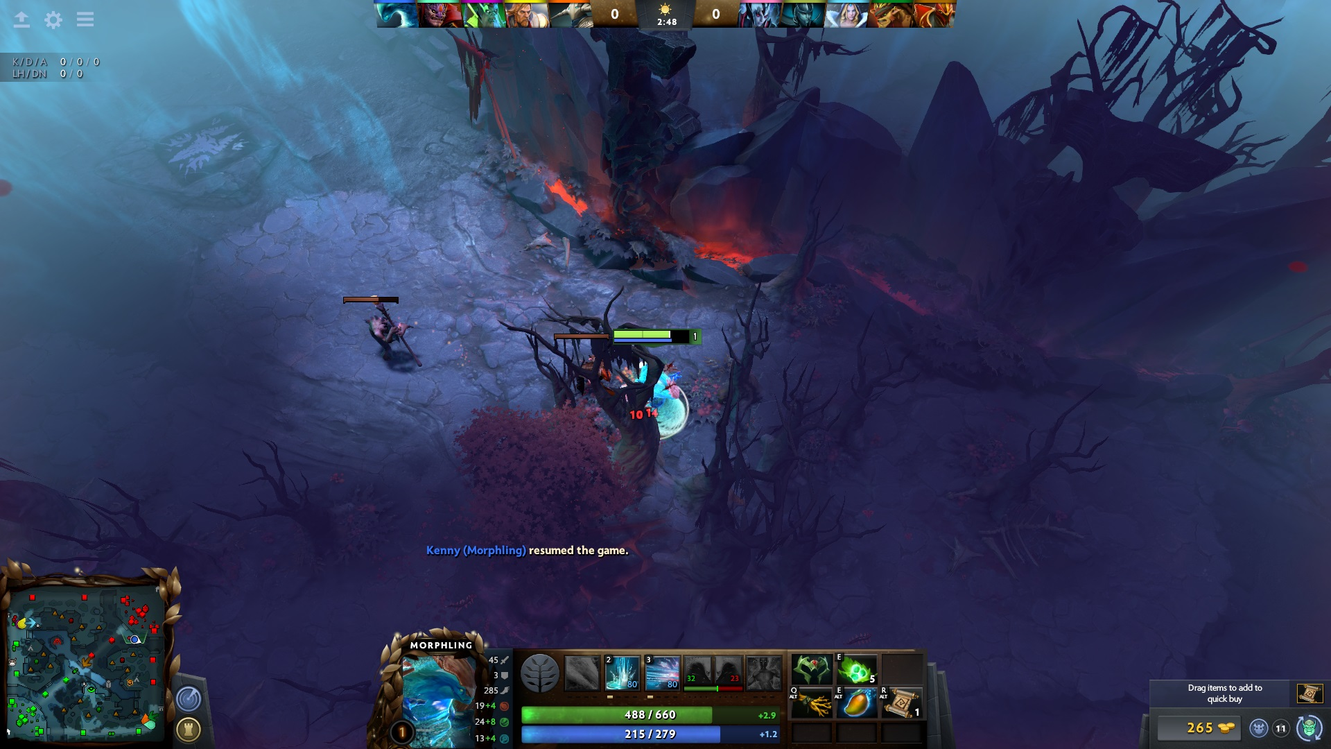 Lava vents on Dire's side of the map.