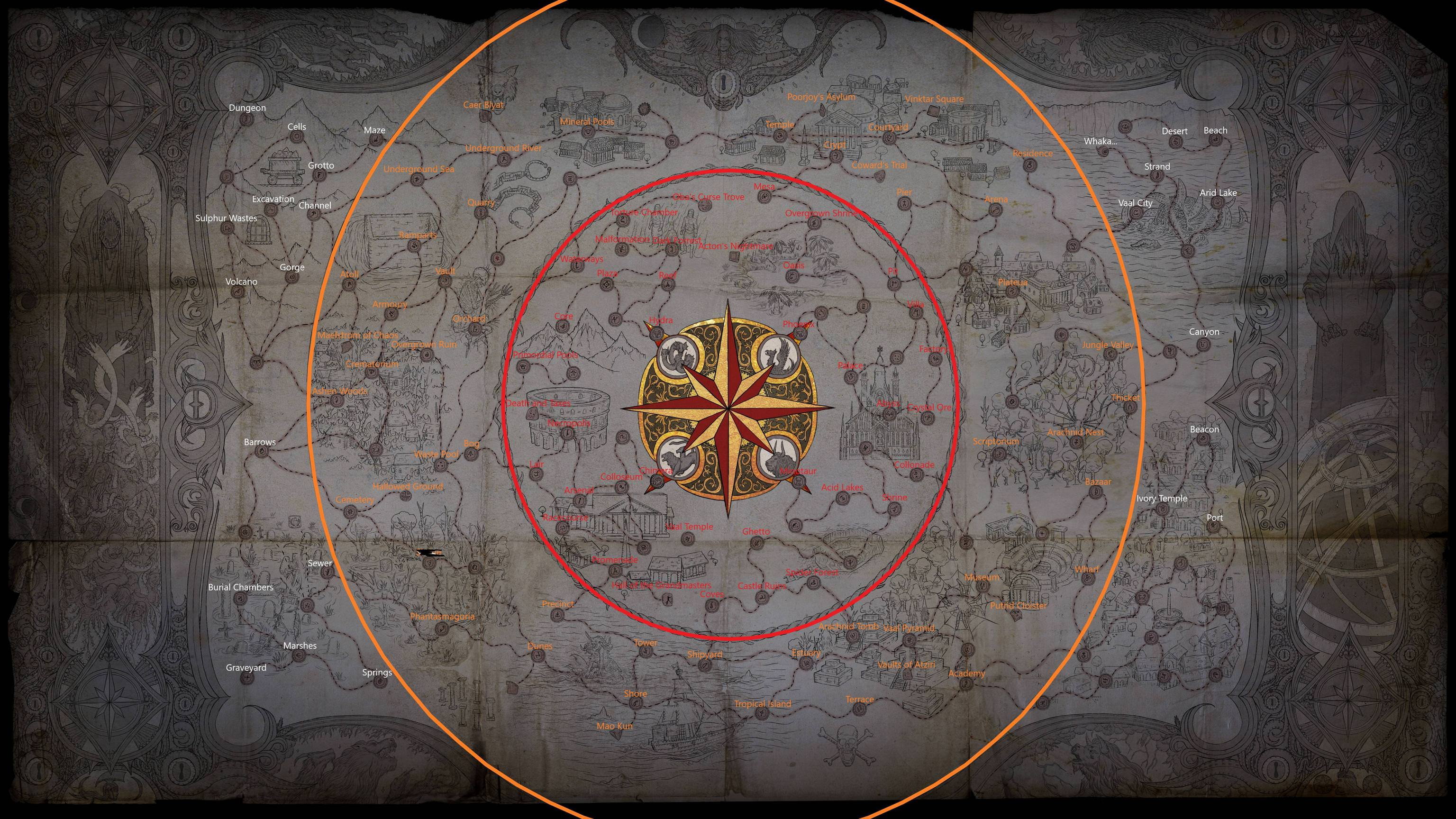 The reworked Atlas in Path of Exile's upcoming expansion.